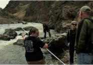 Students collect water samples from Hells Canyon for their research projects. Photo provided by Jenni Light, LCSC