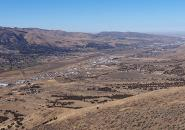 Looking north of Portneuf Valley and Pocatello, southeastern Idaho