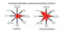 Figure 1: Relative importance of several ecosystem services associated with the lower Portneuf River